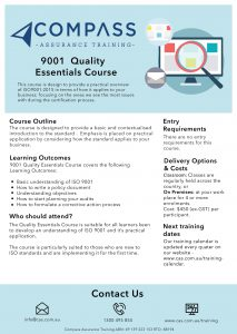 9001 Training Course outline -page-001